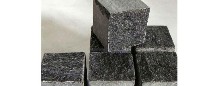 BC0406 - Basalt Cobblestones Top Natural Sides Cut