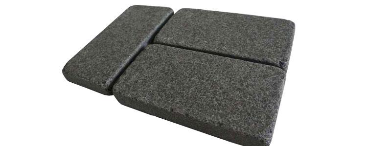 BP0504 - Basalt Paving Stones Top Flamed Sides Cut/Tumbled