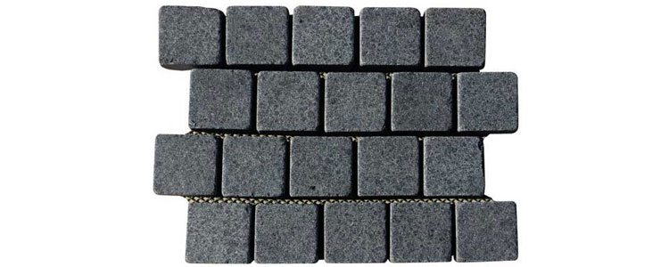 BP0505 - Basalt Paving Stones Top Flamed Sides Cut/Tumbled