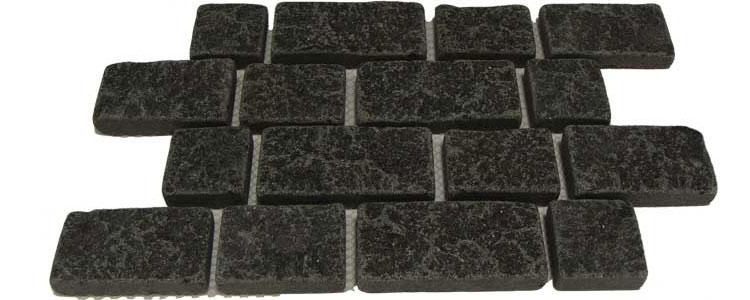 BP0510 - Basalt Paving Stones Top Flamed Sides Cut/Tumbled
