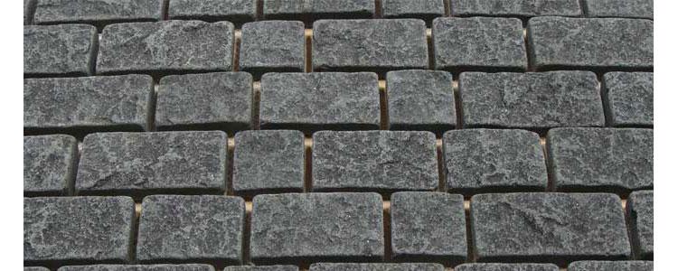 BP0511 - Basalt Paving Stones Top Flamed Sides Cut/Tumbled