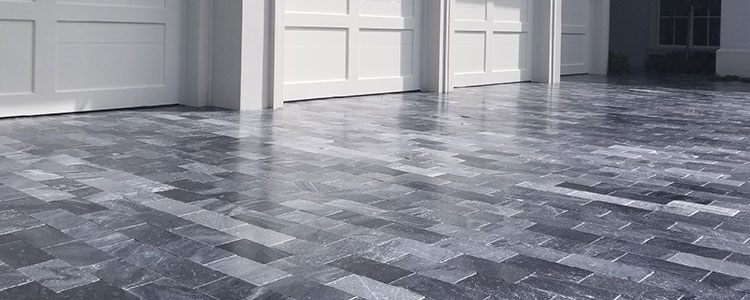 MP1022 - Dark Silver Grey Outdoor Marble Pavers