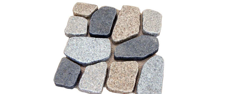 GM0345 - Ancient grey, gold and salt and pepper mesh granite crazy pattern.