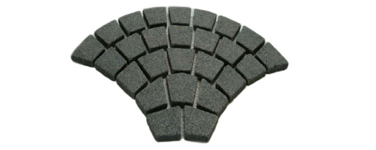 GM0315 - Ancient grey granite fan pattern.