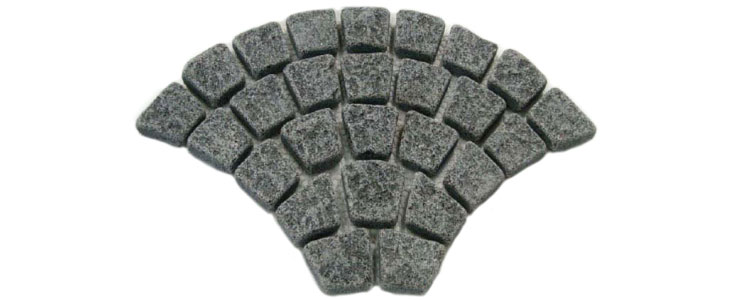 GM0317 - Ancient grey granite fan pattern.