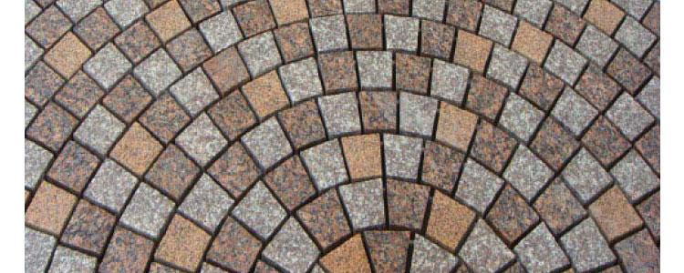GM0342 - Custom mesh granite circle fan pattern.