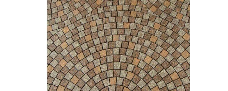 GM0343 - Custom mesh granite circle fan pattern.