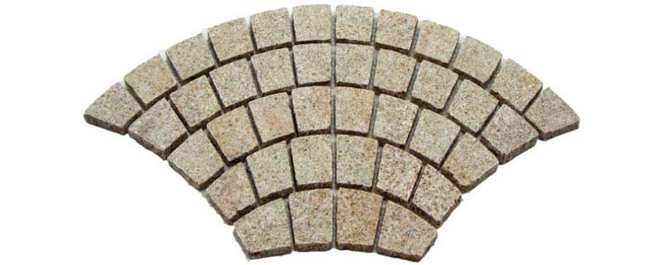 GM0330 - Gold color granite fan pattern.