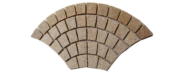 GM0332 - Gold granite fan pattern.