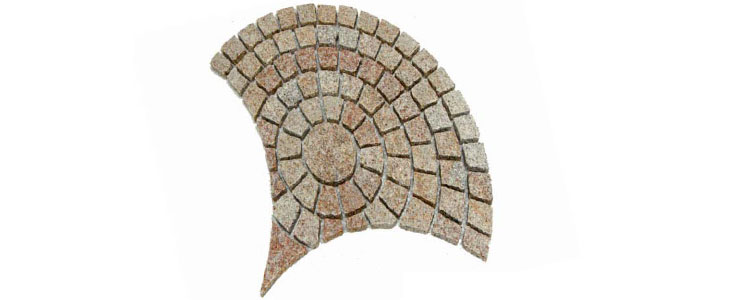 GM0337 - Gold granite small peacock pattern.