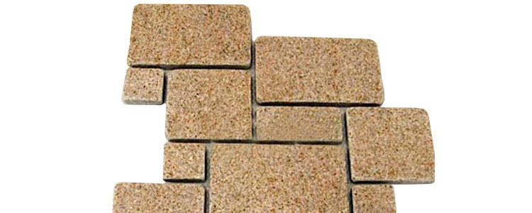 GM0347 - Gold mesh granite french pattern.