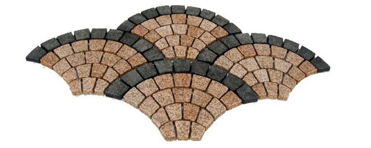 GM0301 - Mesh granite small fan pattern.