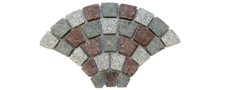 GM0338 - Porphyry granite fan pattern.