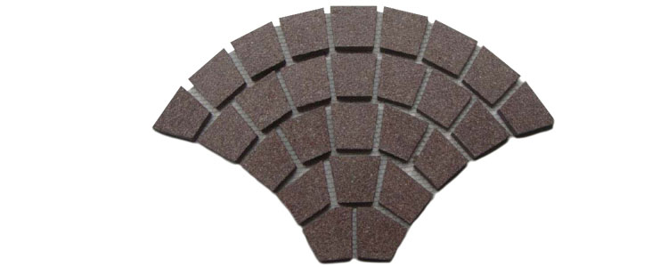 GM0319 - Red granite fan pattern.
