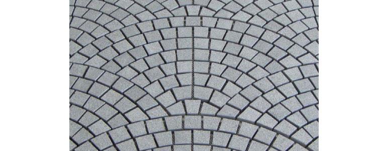 GM0350 - Salt and pepper mesh granite large fan pattern.