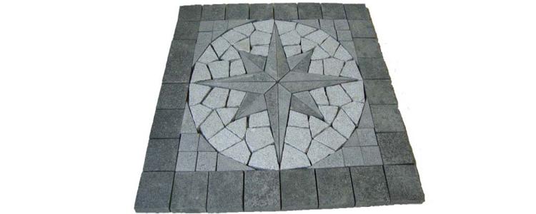 GM0344 - Star pattern mesh granite compass.