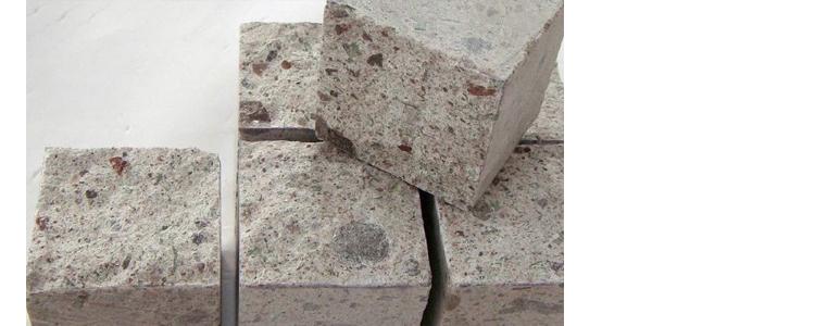 PC0801 - Porphyry Cobblestone White Top Natural sides Cut
