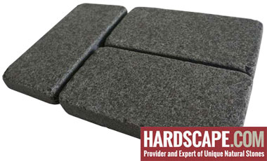 BP0504 - Basalt Paving Stones Top Flamed Sides Cut/Tumbled