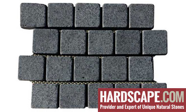 BP0505 - Basalt Paving Stones Top Flamed Sides Cut/Tumbled
