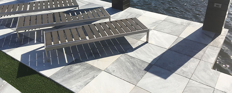 MP1009 - Silver White Outdoor Marble Pavers