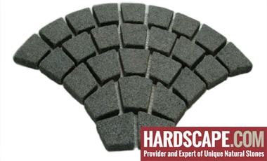 GM0315 - Ancient grey granite fan pattern.