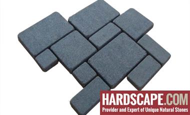 GM0346 - Ancient grey mesh granite french pattern.
