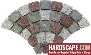 GM0338 - Porphyry granite fan pattern.