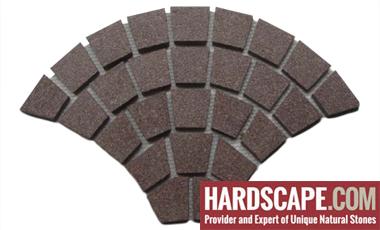GM0319 - Red granite fan pattern.