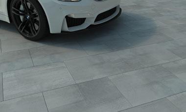 3cm Driveway Porcelain Pavers - SilverGrey